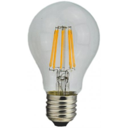 LAMPADINA FILAMENTO A60 - 8W - TRASPARENTE - E27 - LUCE CALDA - 2700K