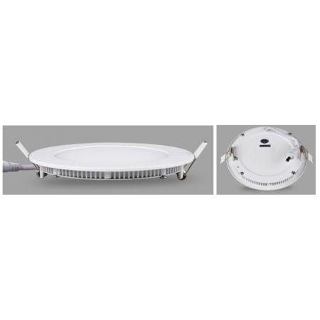PANNELLO LED SLIM ROTONDO - 12W - LUCE NATURALE - 172X172MM - 900 LUMEN
