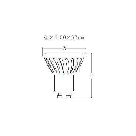 FARETTO LED GU10 - CERAMICA - 5,5W - LUCE CALDA - 220V - 440 LUMEN