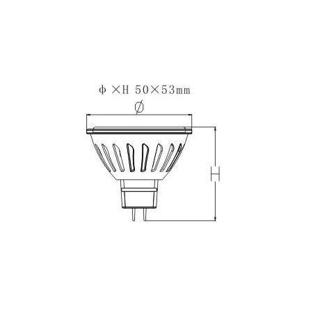 FARETTO LED MR16 - CERAMICA - 6,5W - LUCE CALDA - 12V - 420 LUMEN