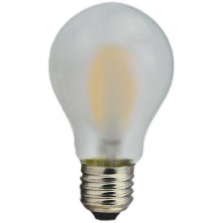 LAMPADINA FILAMENTO A60 - 8W - SATINATA - E27 - LUCE CALDA - 2700K