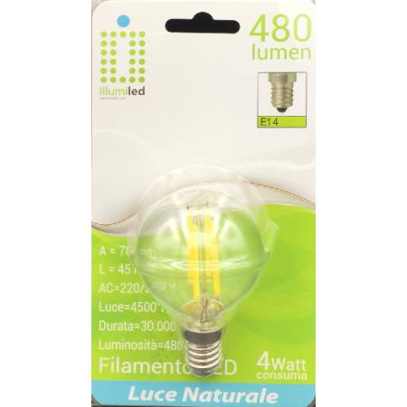 Lampadini mini globo 4W naturale